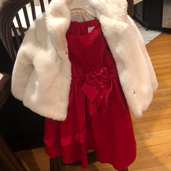 Party/ holiday dress and fur coat